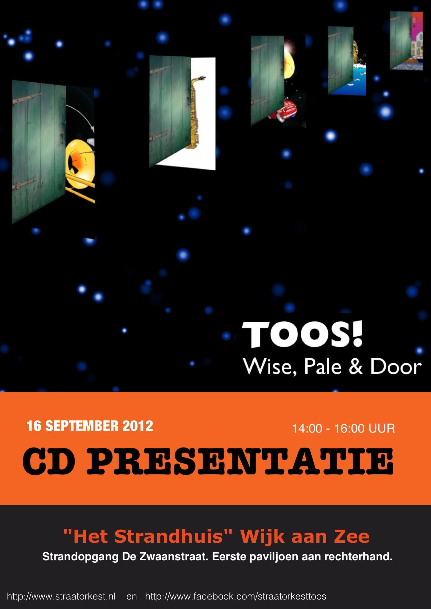 Kom ook naar de CD presentatie op 16 september!