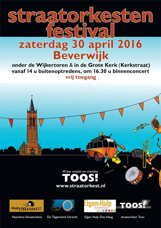 Straatorkestenfestival 30 april 2016 Wijkertoren