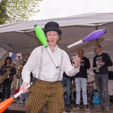 Dat was een uniek optreden op Koningsdag samen met 'The Dutch Juggler'